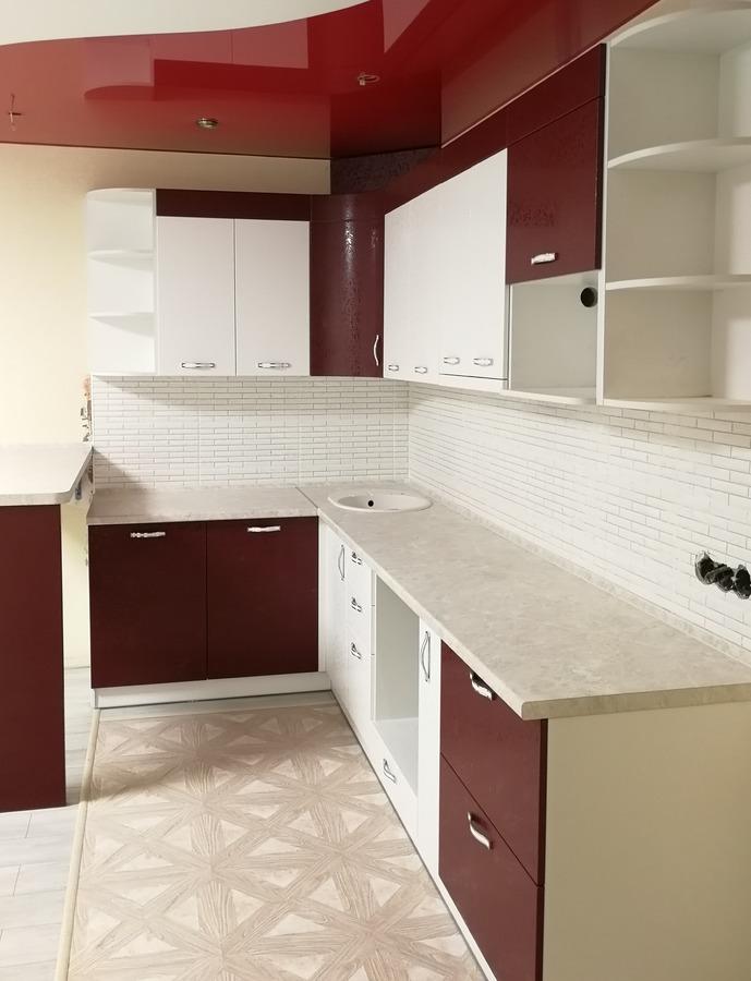 Встроенная кухня-Кухня МДФ в эмали «Модель 18»-фото3