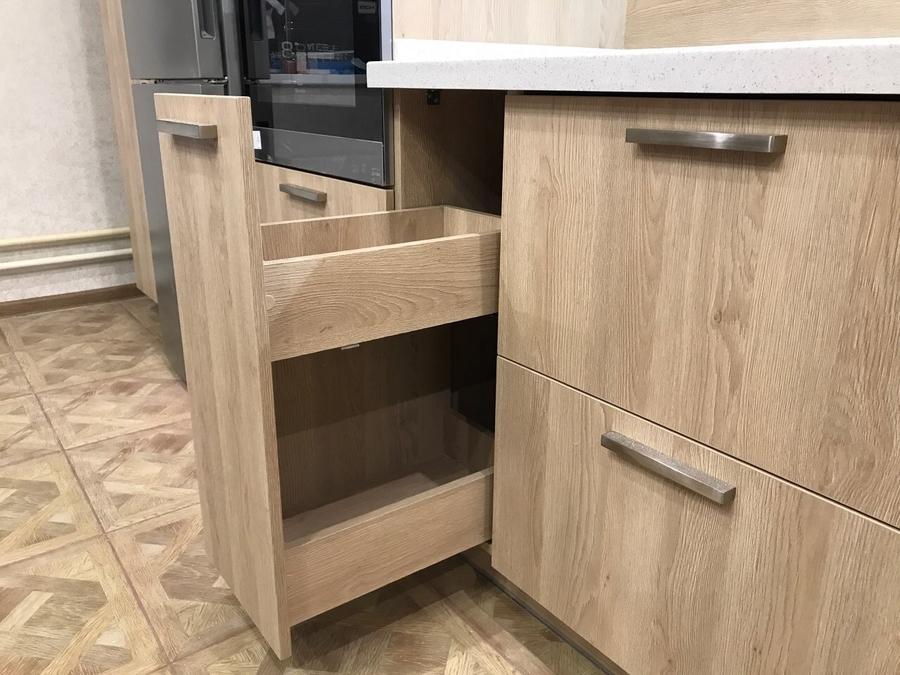 Белый кухонный гарнитур-Кухня МДФ в ПВХ «Модель 67»-фото7