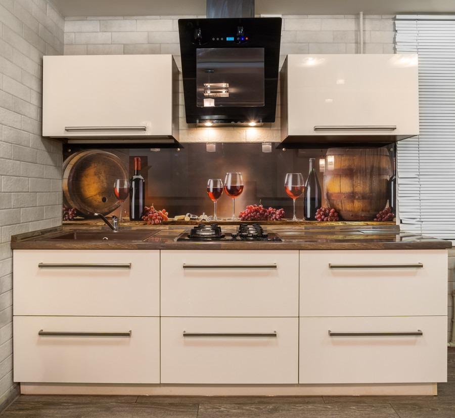 Бежевые кухни-Кухня из пластика «Модель 2»-фото3
