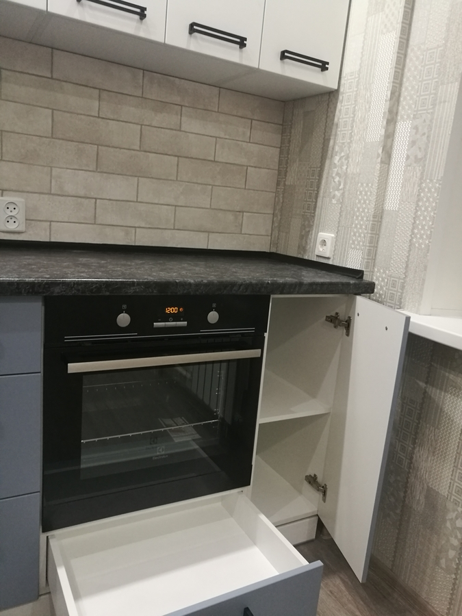 Белый кухонный гарнитур-Кухня МДФ в ПВХ «Модель 30»-фото6