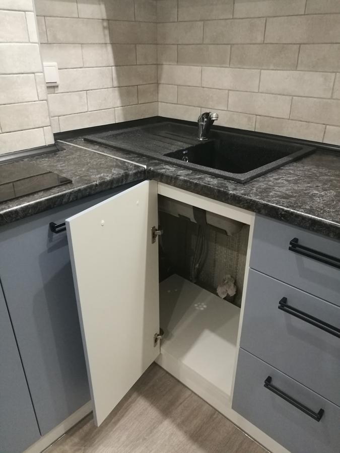 Белый кухонный гарнитур-Кухня МДФ в ПВХ «Модель 30»-фото7