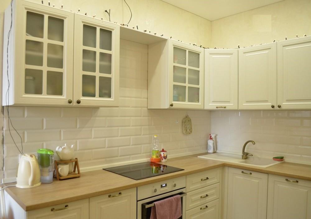 Белый кухонный гарнитур-Кухня МДФ в эмали «Модель 219»-фото1