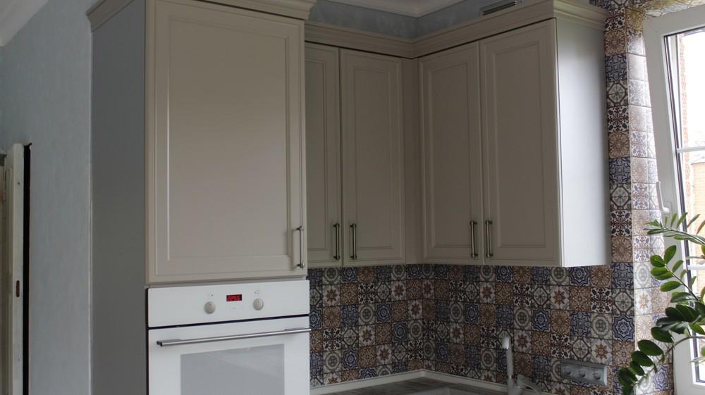 Бежевые кухни-Кухня МДФ в эмали «Модель 283»-фото6
