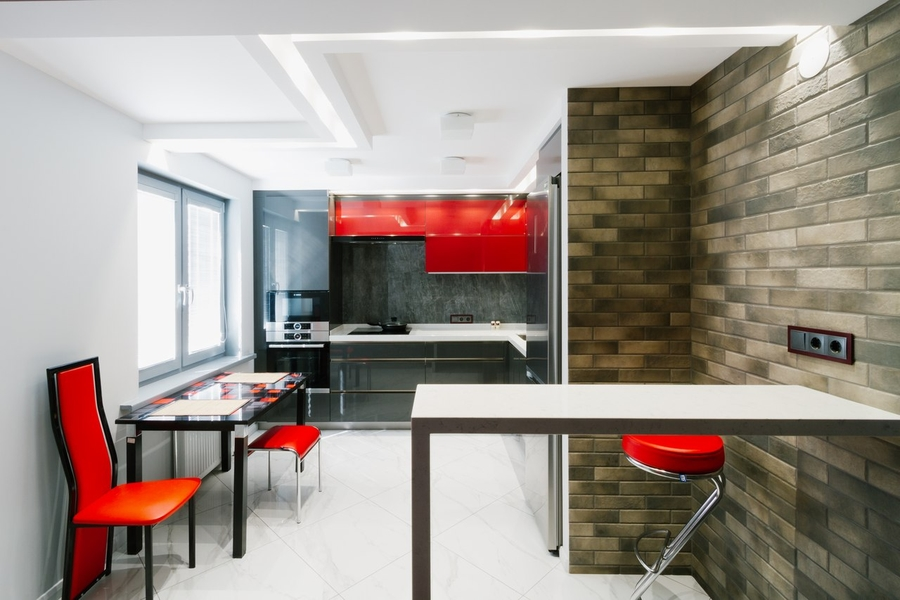 Встроенная кухня-Кухня из ЛДСП «Модель 414»-фото1