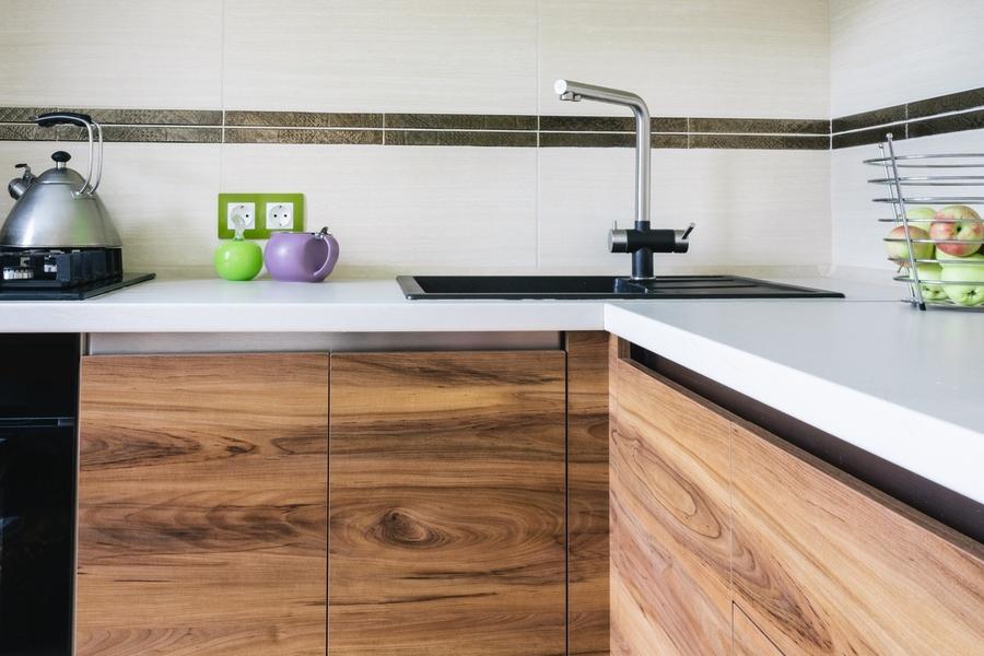 Глянцевые кухни-Кухня из ЛДСП «Модель 406»-фото2