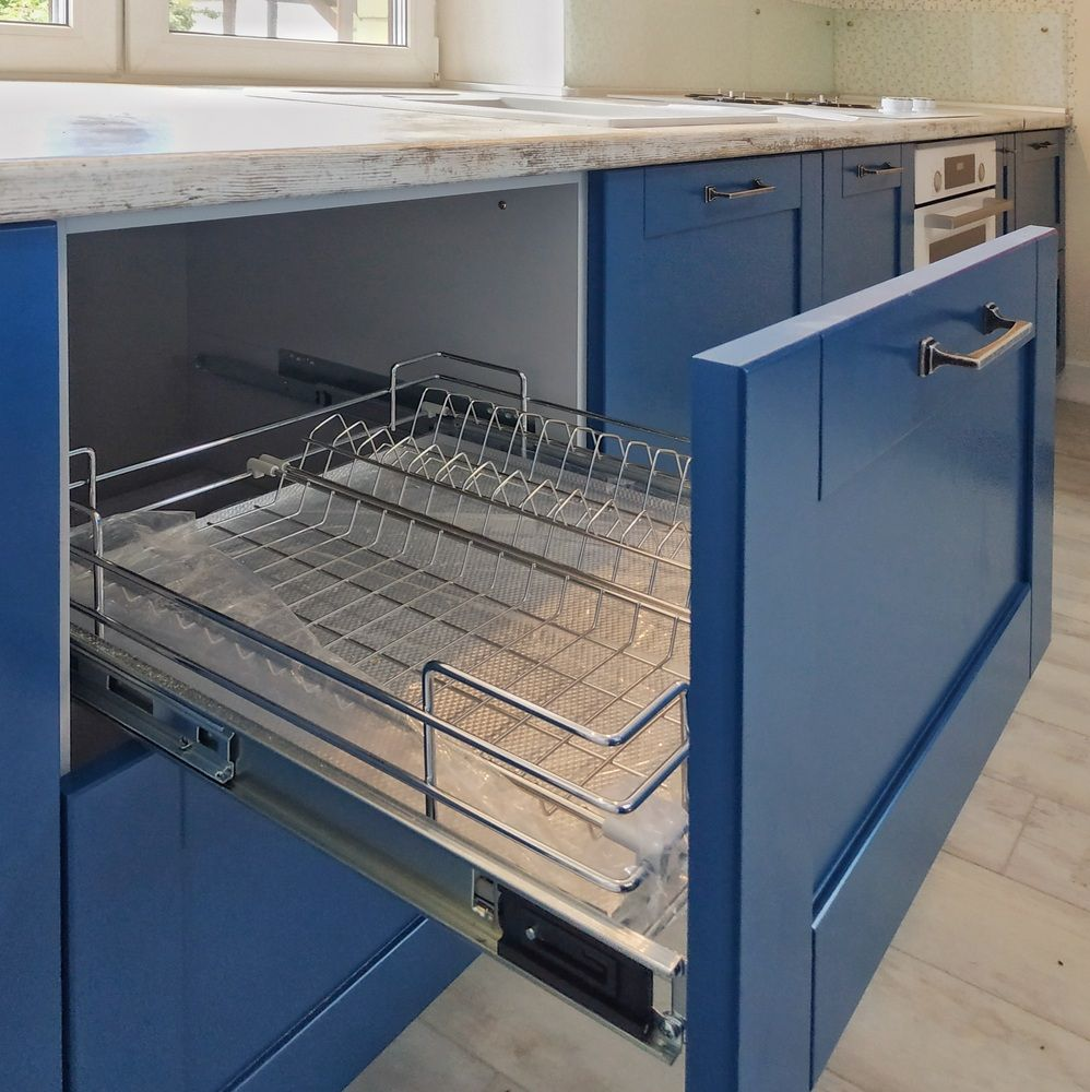 Встроенная кухня-Кухня МДФ в эмали «Модель 528»-фото5