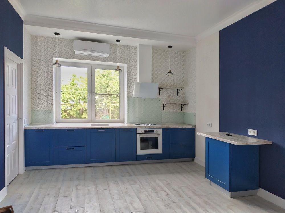 Встроенная кухня-Кухня МДФ в эмали «Модель 528»-фото1