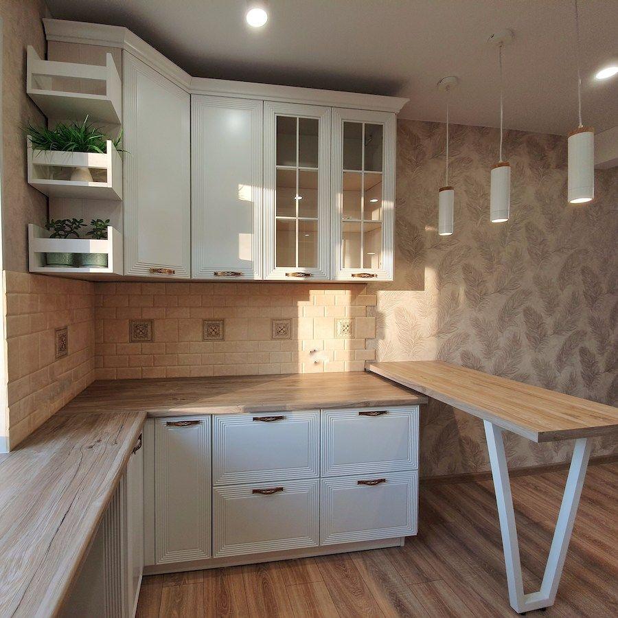 Белый кухонный гарнитур-Кухня МДФ в эмали «Модель 530»-фото3