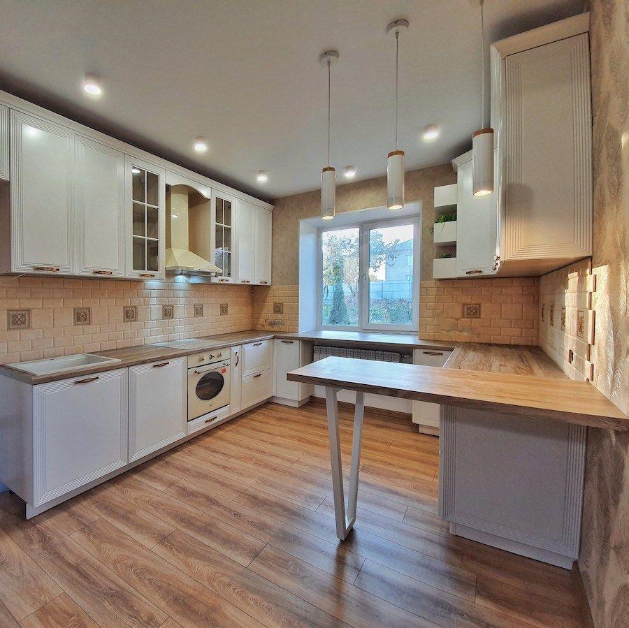 Белый кухонный гарнитур-Кухня МДФ в эмали «Модель 530»-фото1