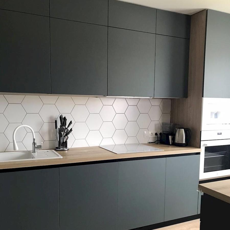 Встроенная кухня-Кухня МДФ в ПВХ «Модель 596»-фото2