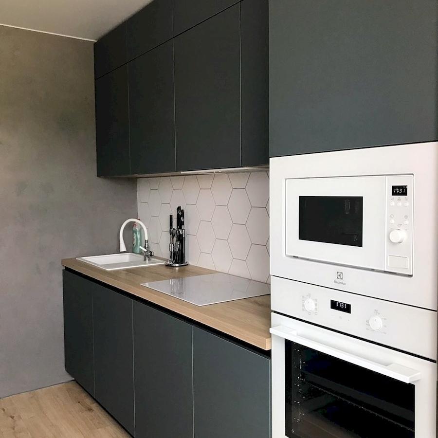 Встроенная кухня-Кухня МДФ в ПВХ «Модель 596»-фото3