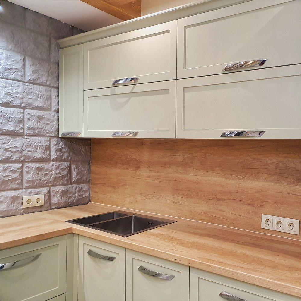 Бежевые кухни-Кухня МДФ в эмали «Модель 519»-фото3