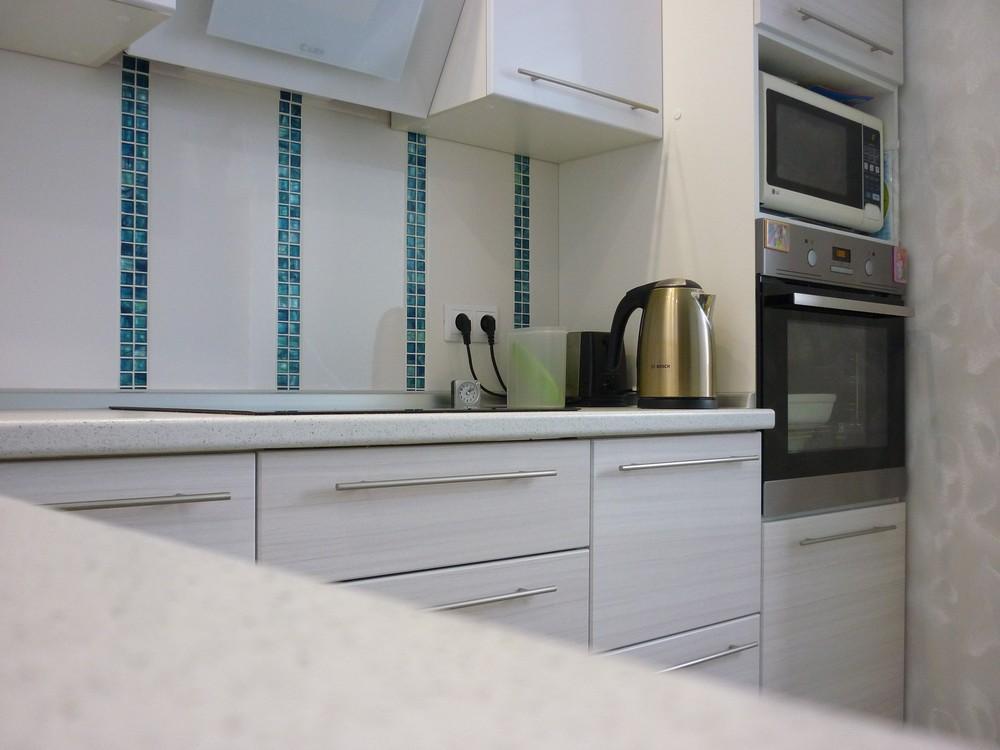 Белый кухонный гарнитур-Кухня МДФ в ПВХ «Модель 180»-фото4
