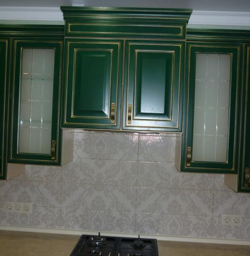 Встроенная кухня-Кухня МДФ в эмали «Модель 214»-фото4