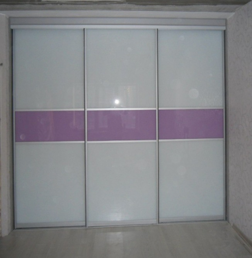 Большой шкаф-купе-Шкаф-купе из стекла с Oracal «Модель 153»-фото4