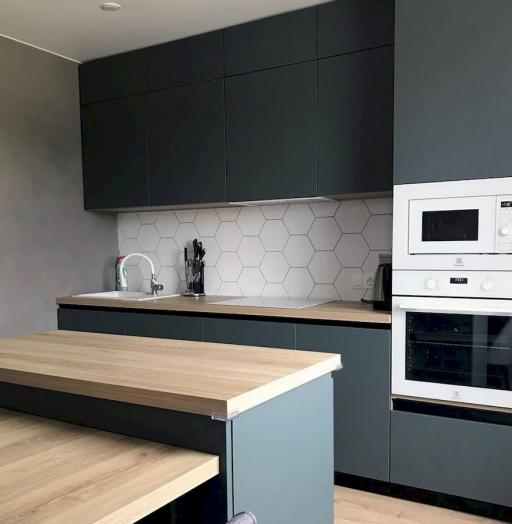 Встроенная кухня-Кухня МДФ в ПВХ «Модель 596»-фото4
